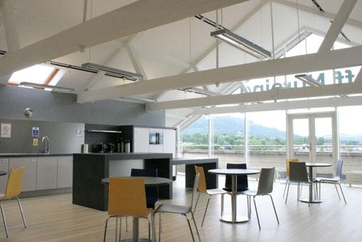 Architect Belfast renovation canteen 2